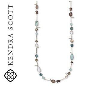 NWT Kendra Scott Ruth necklace rhodium and gems